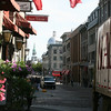 Street with an old European flavor in Vieux Montreal.