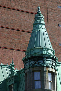 Nifty details of the tower and roof.