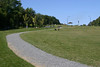 Entering the park below Mont Royal, more paths through more grass. So inviting, and people and their dogs lounged all across it.