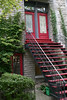 The stylin' red and black stairs and doorways upstairs and down made an impression on me. Just someone's home.