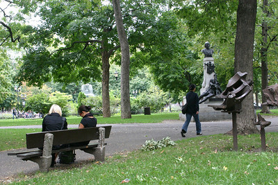 Montreal tucks small parks and lots of artwork into nooks and crannies of the city in every direction.