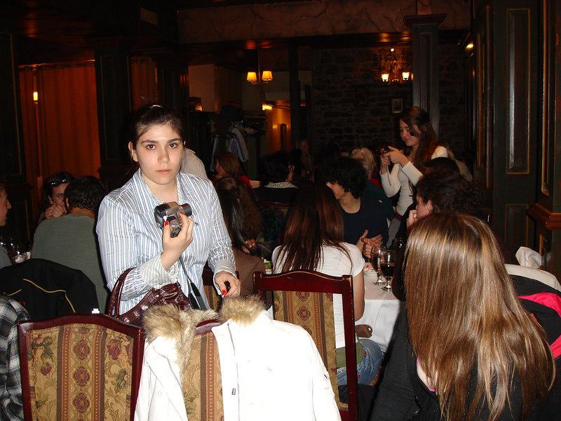 Natalie at dinner