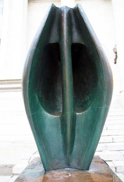 Sculpture by Henry Moore in front of the Art Museum