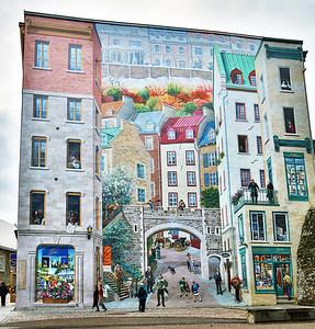 La Fresque des Québécois, great Trompe l'Oeil in Quebec City
