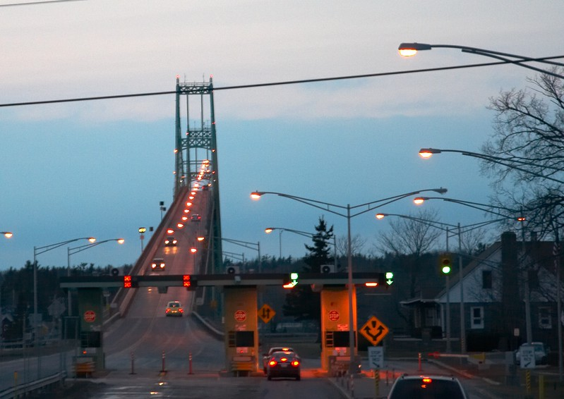 Bridge leading into Canada