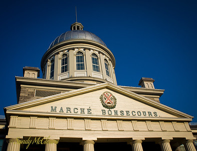 Marche Bonsecours / Bonsecours Market building in Old Montreal near the Port.