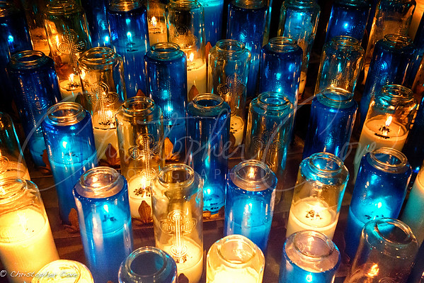 Blue and Yellow Candles