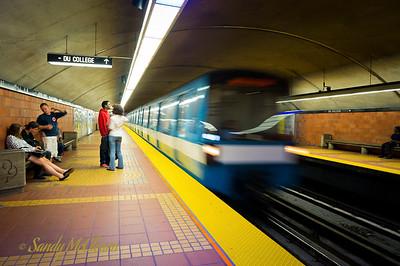 Montreal subway.
