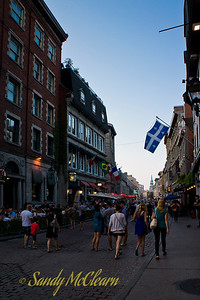 Streetscape in Old Montreal.