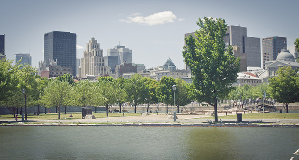 View of Montreal from the water