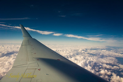 The wing of the Bombardier CRJ that brought me back to Halifax.