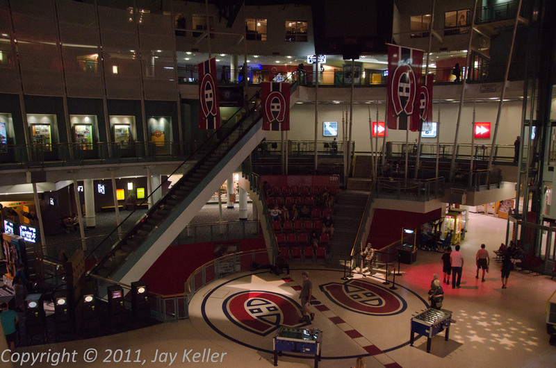 The inner space of the mall preserves some of the old Forum's character.