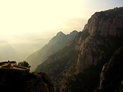 Looking out from Montserrat Abby