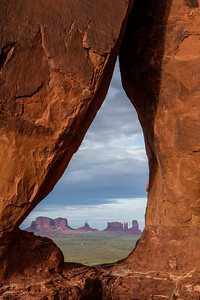 Monument Valley, teardrop view
