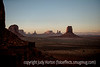 Monument Valley at sunset on a very windy, dusty day; best viewed in the largest sizes