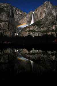 A reflection of the moonbow