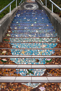 Keep rising, higher and higher on the steps and in the world it depicts--now you're moving into the sky with the birds.