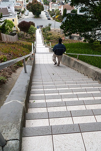 From the top, it's just another long set of San Francisco steps.