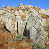 Hillside rocks on hiking trail in Moreno Valley, California