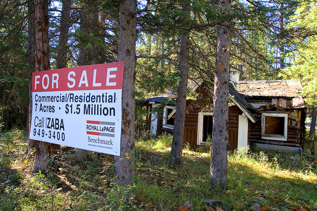 We stopped at this piece of real estate for sale in Bragg Creek