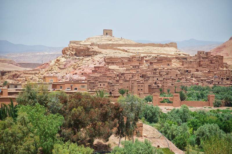 Desert village.