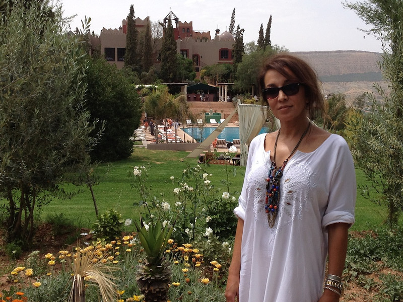 Roya at the Kasbah Tamadot.