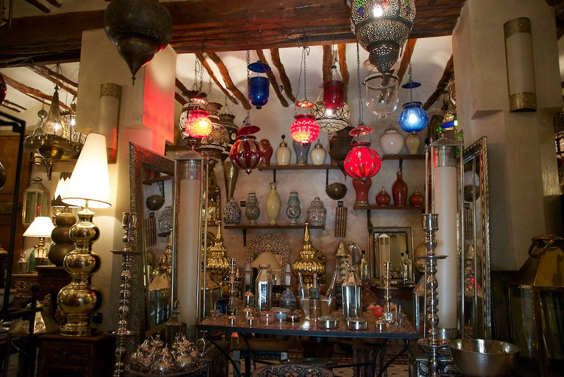 Lamp store in Marrakesh.