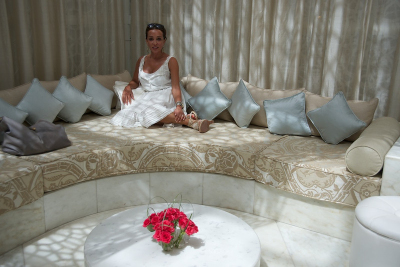 Roya in the spa at the Royal Mansour hotel.