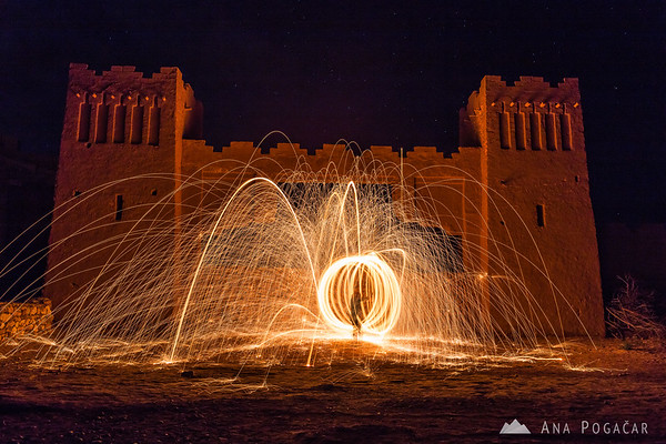 Painting with light at the Ait Benhaddou kasbah