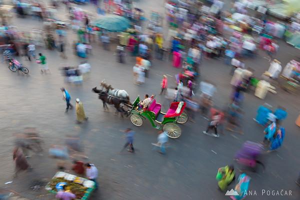 Busy Jamma El Fna square in Marrakech