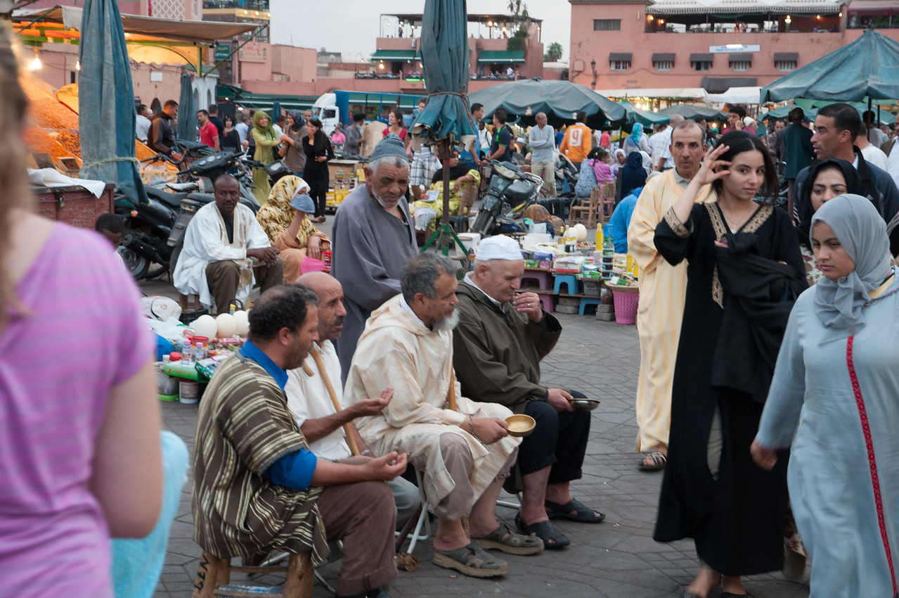 Photographing these blind chanters drew hisses of disapproval from the locals standing around. I was still learning that Moroccans do NOT like to have their pictures taken without permission.