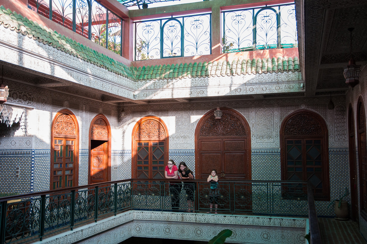 Our Riad/Hotel, an oasis of calm within the Medina. On night 3 our hosts prepared for us the best meal we had in Morocco.