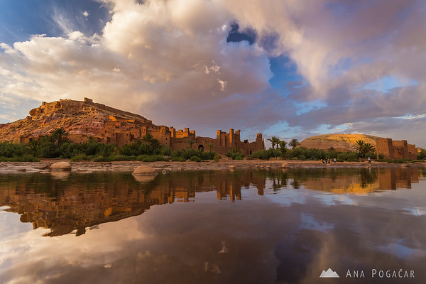Kasbah of Ait Benhaddou before sunset