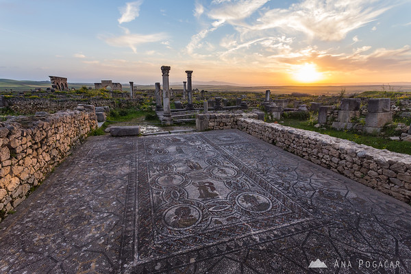 Roman ruins of Volubilis near Moulay Idris