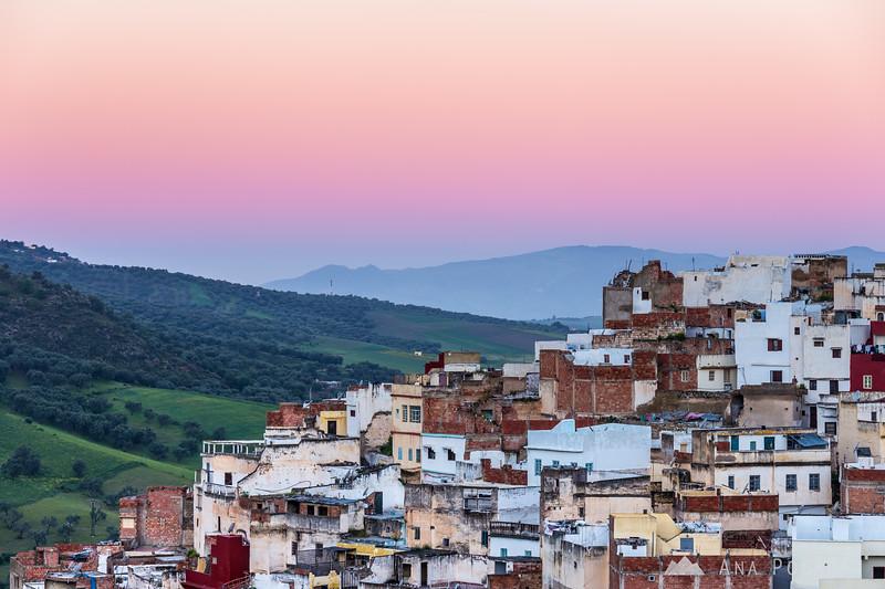 Town of Moulay Idris at dawn