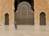 Hassan II Mosque.  Believed to be the 2nd largest Mosque in the world.