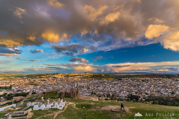 View of fes from borj north before sunset