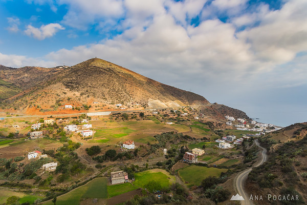 One of the villages on the Mediterranean coast of Morocco