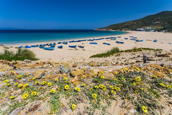 A sandy beach near Tangier