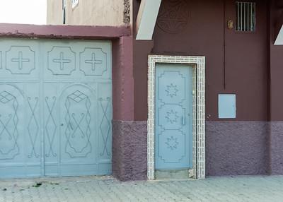 DOORS, NEAR SIDI OUASSAY, SOUTH OF AGADIR, MOROCCO.