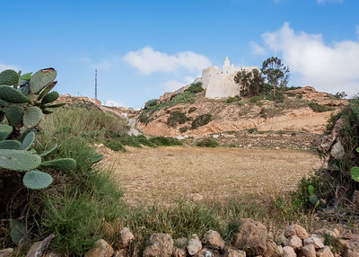 A MOSQUE OR CASTLE? NEAR OUED MASSA-CHAMPS D'AGHORMIZE, NEAR SIDI OUASSAY, SOUTH OF AGADIR, MOROCCO.