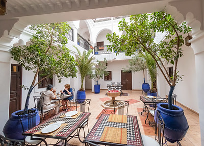 OUR HOTEL IN THE OLD SECTION OF MARRAKECH.
