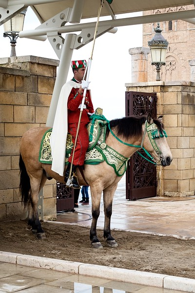 Ceremonial guard at the Mausoleum of Mohammed V