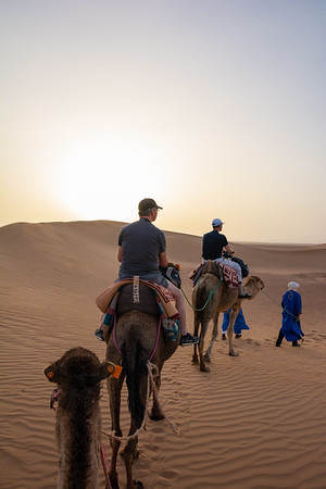 Camel ride in the Saharah Desert, Morocco