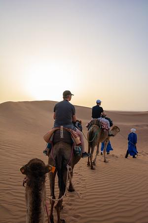 Camel ride in the Saharah Desert, Morocco