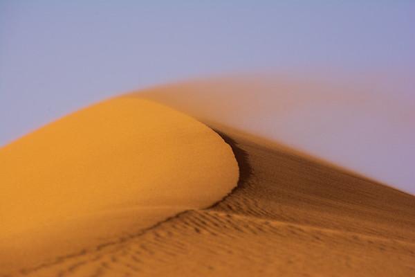 Windswept dunes in the Saharah Desert, Morocco