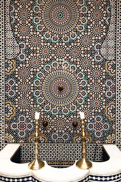 Tiled Fountain-Riad Fes