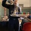 Pouring mint tea