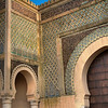 "Gate to the old city in Meknes, Morocco - When Moulay Ismael asked the architect if he could make one better and the architect replied ""Yes"", he killed him so that he couldn't make a better gate elsewhere."