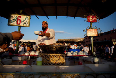 Boiled snails at Djemaa el-Fnaa.